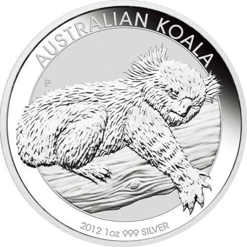 2012年製 新品未使用 コアラ銀貨 1オンス 20枚セット 41mmクリアーケース付き