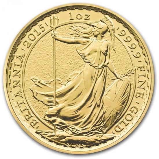 新品未使用2015年製 ブリタニア金貨 1オンス 33mmクリアーケース付き