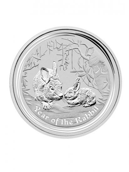 2011年製 兎(ウサギ)銀貨 1オンス  クリアーケース付き