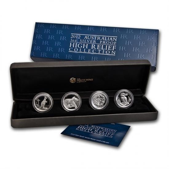 2012年 オーストラリア 1オンス ハイレリーフ プルーフ銀貨 コレクション