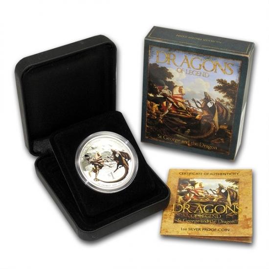 干支ドラゴン銀貨 2012年 1オンス プルーフ セントジョージ&ドラゴン