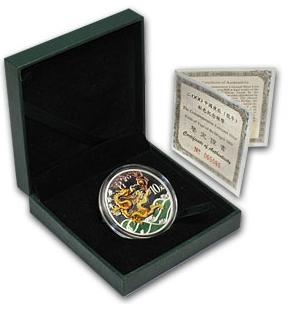 干支ドラゴン銀貨 1オンス プルーフ 2000年製 (w/box, CoA)