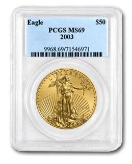 【2003年】  1オンス イーグル金貨 MS-69 PCGS