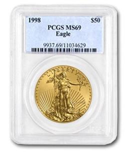 【1998年】  1オンス イーグル金貨 MS-69 PCGS