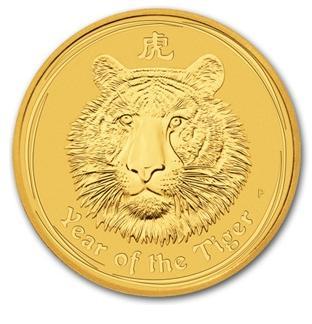 干支タイガー金貨 1オンス 2010年製 オーストラリアパース造幣局発行(Series 2)