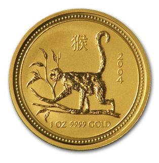 干支 猿金貨 1オンス 2004年製(Series I)