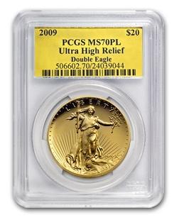 2009 ウルトラハイレリーフダブルイーグル MS-70 PL PCGS (Gold Foil)