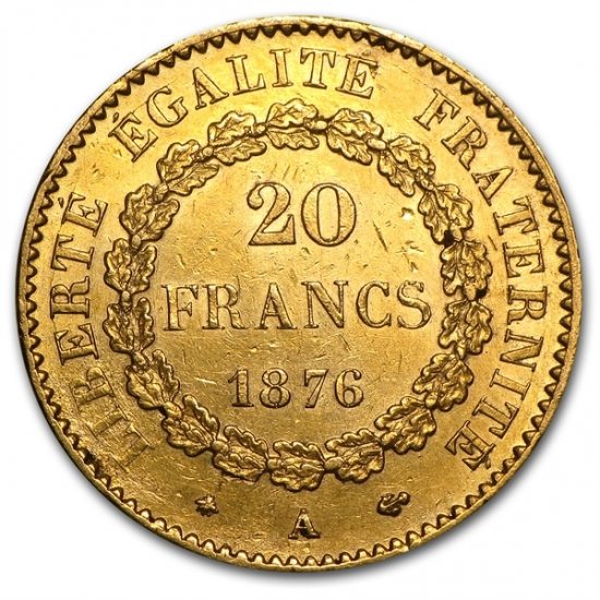 French 20 Franc Lucky Angel AGW .1867 클리어 케이스 포함