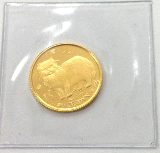 マン島キャット金貨1989年製 1/25オンス