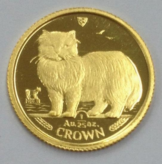 マン島キャット金貨1989年製 1/25オンス D