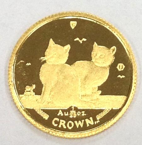 マン島キャット金貨2003年製 1/25オンス 323