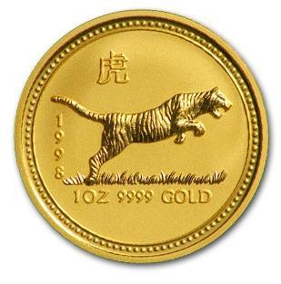 干支タイガー金貨1オンス 1998年製