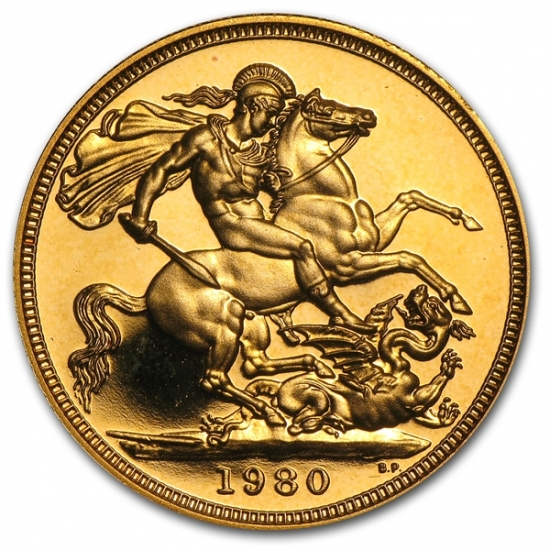 Great Britain Gold Proof Sovereign Queen Elizabeth II クリアーケース付き