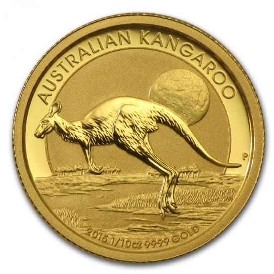 新品未使用 2015年製 オーストラリア、カンガルー金貨1/10オンス 20枚セット クリアーケース付き