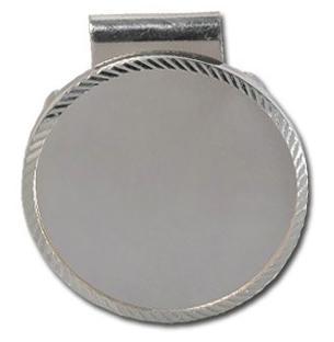 スターリングシルバー 裏蓋付き ダイアモンドカット マネークリップ 40.6 mm