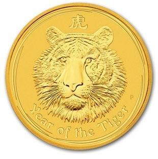 干支タイガー金貨 1/2オンス 2010年製 オーストラリアパース造幣局発行(Series 2)