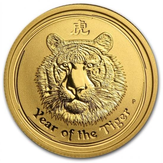 干支タイガー金貨 1/4オンス 2010年製 オーストラリアパース造幣局発行(Series 2)
