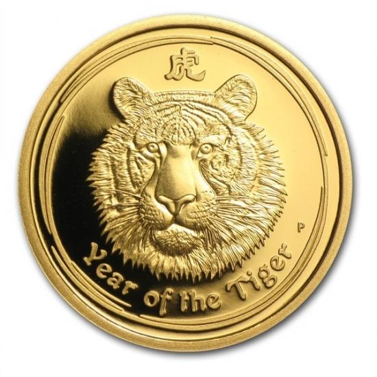 干支タイガー金貨 プルーフ 1/4オンス 2010年製 オーストラリアパース造幣局発行(Series )