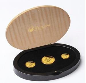 干支ドラゴン金貨プルーフ 1オンス,1/4オンス,1/10オンス 2012年製 クリアーケース付き
