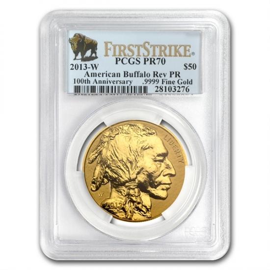 【誠実】 2013年 -W PCGS Gold 1 2013年 oz バッファロー金貨 Reverse Proof Gold Buffalo PR-70 PCGS First Strike, スターアイ:ac7ca6b8 --- spotlightonasia.com