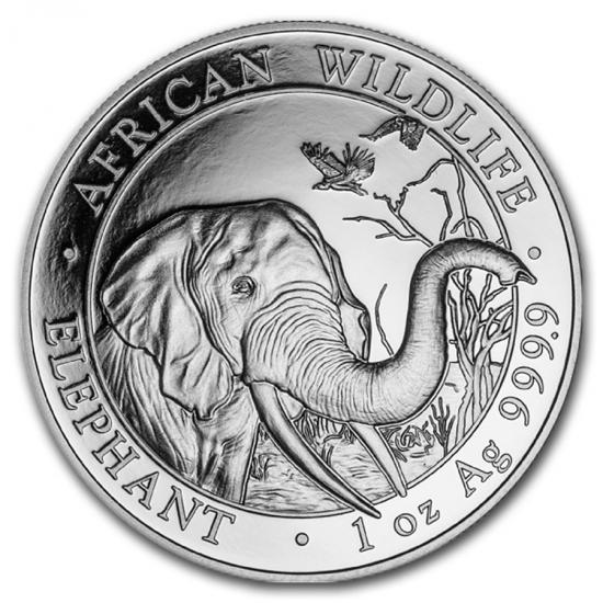 新品未使用 2018  アフリカ  ソマリア エレファント銀貨 1オンス 20枚セット 39mmクリアーケース20枚付き