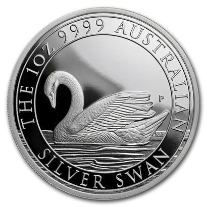 新品未使用 2018 オーストラリア 白鳥銀貨 1オンス 箱とクリアーケース付き