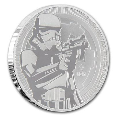 新品未使用 2018 ニウエ 1オンス銀貨 Star Wars(Stormtrooper) 5枚セット 41mmクリアーケース付き