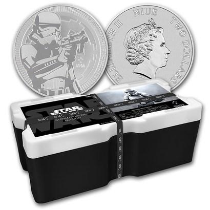 新品未使用 2018 ニウエ 1オンス銀貨 Star Wars(Stormtrooper)250枚セット モンスターBOX付き