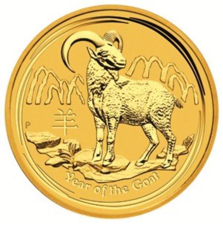 干支 羊金貨 1/10オンス 2015年製クリアーケース付き