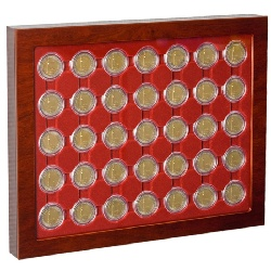 コインショーケース26mm用【35枚】入り 壁掛けタイプ(LOUVRE coin showcase)