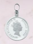 ホースコイン1/10オンス用 デザインOG-052 ペンダント枠 両面デザインフレーム(ネジタイプ) Pt850