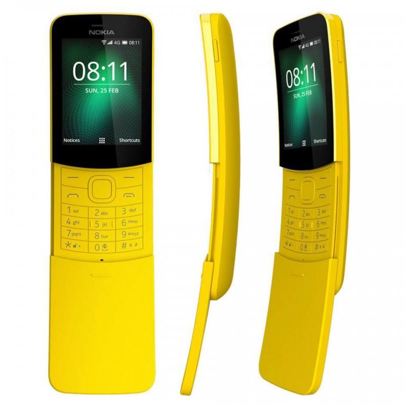 ガラケーSIMフリー携帯!Nokia 8110 4G  【復刻したNokiaガラケースライド携帯】