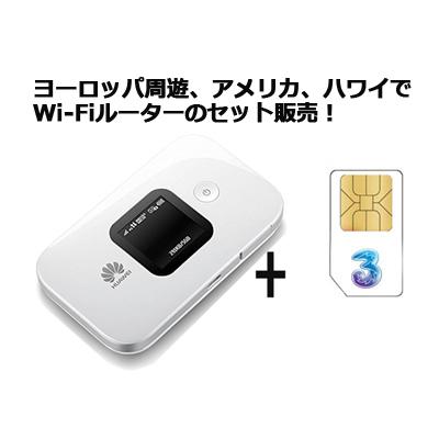 海外Wi-Fiルータ-セット販売!ヨーロッパ周遊やアメリカ・ハワイにおススメ【容量12GB!開通・設定済み版】