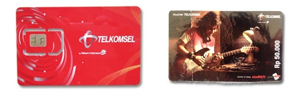 인도네시아 선불 TELKOMSEL LOOP SIM 3 G정액 데이터 통신 음성 전화