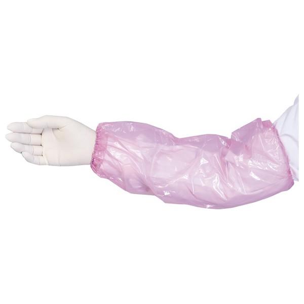 ポリ腕カバー ピンク フリーサイズ 50枚×40袋●ケース販売お徳用【メーカー直送・代引き不可・時間指定不可・沖縄、離島不可】