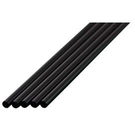 ストレートストロー 4.5mm×18cm 包装なし 黒色 1000本入×20箱【メーカー直送・代引き不可・時間指定不可】