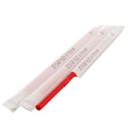 フレックスストロー 6mm×17cm 紙包装 赤色 500本入×20箱【メーカー直送・代引き不可・時間指定不可】
