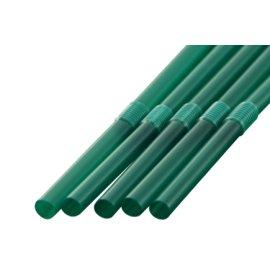 フレックスストロー 6mm×17cm 包装なし 緑色 500本入×20箱【メーカー直送・代引き不可・時間指定不可】