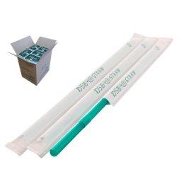 フレックスストロー 6mm×21cm 紙包装 緑色 500本入×20箱【メーカー直送・代引き不可・時間指定不可】