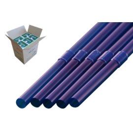 フレックスストロー 6mm×21cm 包装なし 青色 500本入×20箱【メーカー直送・代引き不可・時間指定不可】