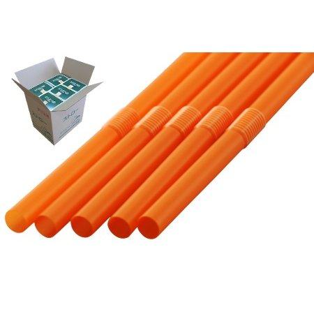 フレックスストロー 6mm×21cm 包装なし オレンジ色 500本入×20箱【メーカー直送・代引き不可・時間指定不可】