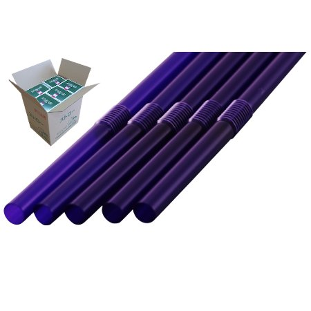 フレックスストロー 6mm×21cm 包装なし 紫色 500本入×20箱【メーカー直送・代引き不可・時間指定不可】