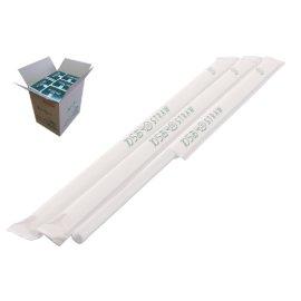 ストレートストロー 6mm×21cm 紙包装 白色 500本入×20箱【メーカー直送・代引き不可・時間指定不可】