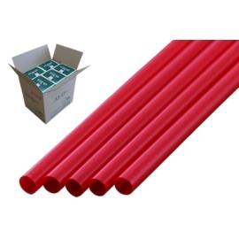 ストレートストロー 6mm×21cm 包装なし 赤色 500本入×20箱【メーカー直送・代引き不可・時間指定不可】