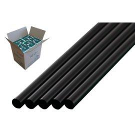 ストレートストロー 6mm×21cm 包装なし 黒色 500本入×20箱【メーカー直送・代引き不可・時間指定不可】