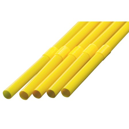 フレックスストロー 6mm×30cm 包装なし 黄色 500本入×12箱【メーカー直送・代引き不可・時間指定不可】