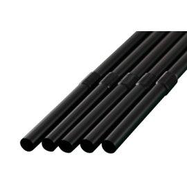 フレックスストロー 6mm×30cm 包装なし 黒色 500本入×12箱