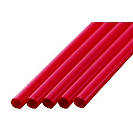 ストレートストロー 7mm×21cm 包装なし 赤色 400本入×20箱【メーカー直送・代引き不可・時間指定不可】