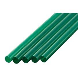 ストレートストロー 7mm×21cm 包装なし 緑色 400本入×20箱【メーカー直送・代引き不可・時間指定不可】