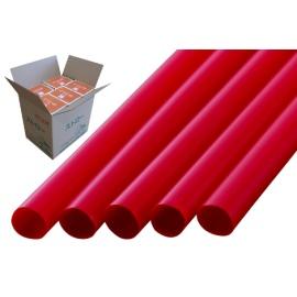 ストレートストロー 10mm×21cm 包装なし 赤色 200本入×20箱【メーカー直送・代引き不可・時間指定不可】